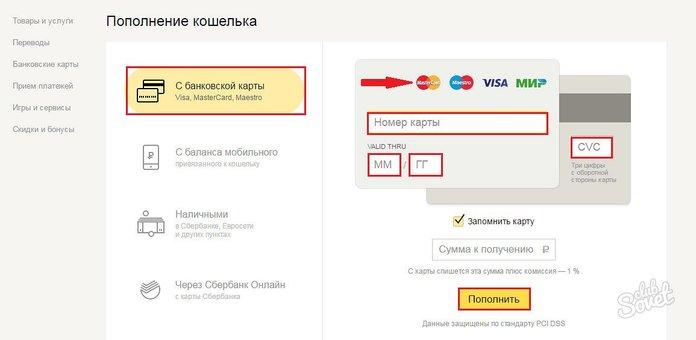 Как перевести деньги со Сбербанка на Яндекс кошелек