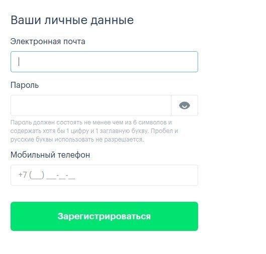 Анкета для подачи заявления на кредит в компанию Moneza